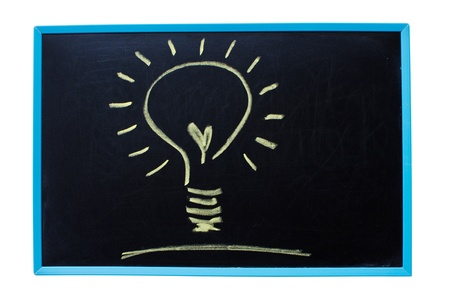 Light bulb as idea concept on the blackboard. photo