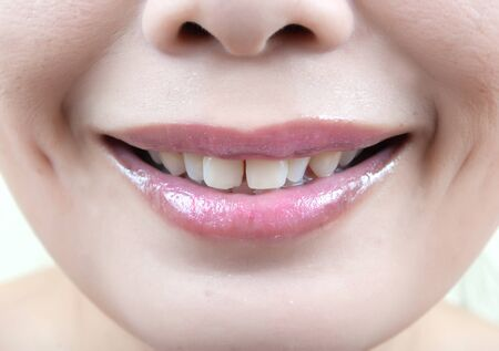 Close up Asian lady mouth. Stock Photo - 11742453