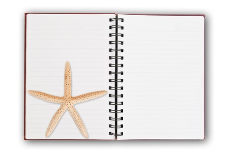 Star fish and notebook photo