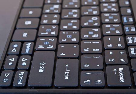 Laptop keyboard. photo