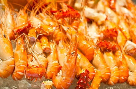Freshwater prawn seafood. photo