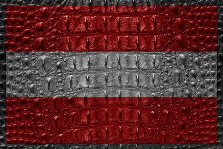Vintage Austrai flag with crocodile skin. Stock Photo - 11881983