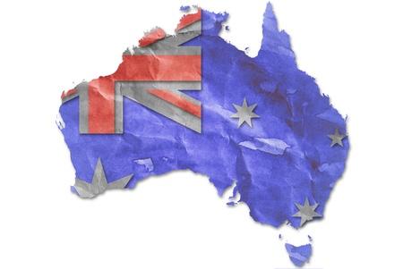 Vintage Australia flag paper grunge. photo