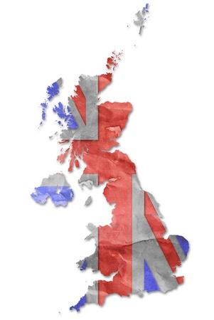 Vintage England flag paper grunge. photo
