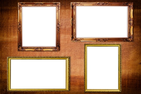 Photo frame on the wood texture. photo