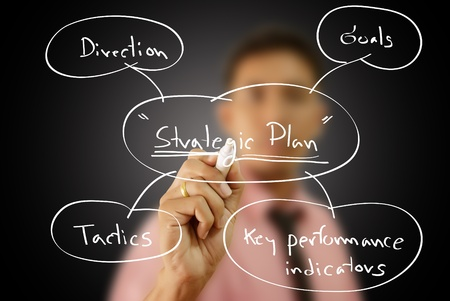 Businessman write business strategic planning on the whiteboard. Stock Photo - 12120124