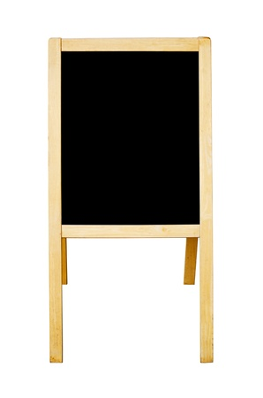 bill board: Blackboard isolated on the white background. Stock Photo