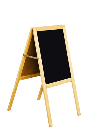 Blackboard isolated on the white background. photo
