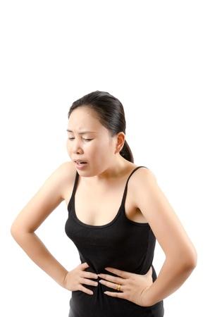 Lady abdominal pain. Stock Photo - 12660316
