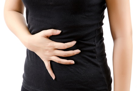 Woman abdominal pain. Stock Photo - 12660331