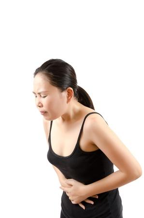 Woman abdominal pain. Stock Photo - 12660325