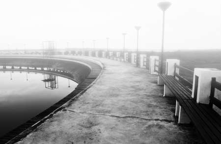 Walk way with the mist  photo