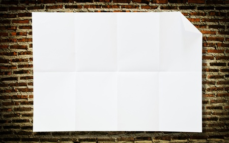Blank white paper texture on the floor  photo
