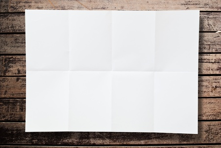 Blank white paper texture on the wood wall  photo