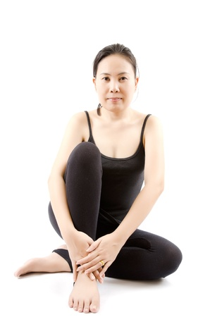 Young Asian woman doing relax from exercise  Stock Photo - 13015398