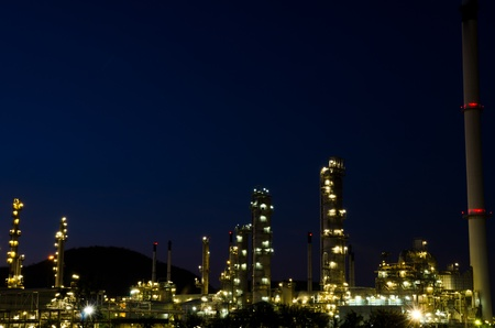 Petrochemical industry on sunset dark blue sky  Stock Photo - 13063896