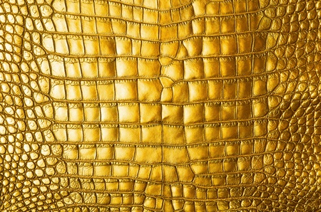 Vintage gold crocodile skin texture  photo