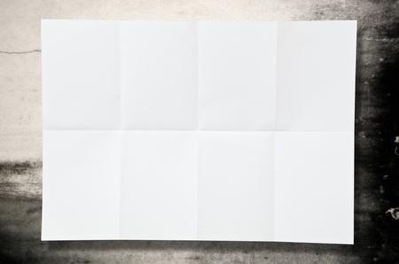 Leeres weißes Blatt Papier Textur auf dem Boden