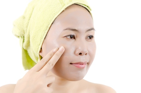 Asian woman mask her face for beautiful Stock Photo - 13435903