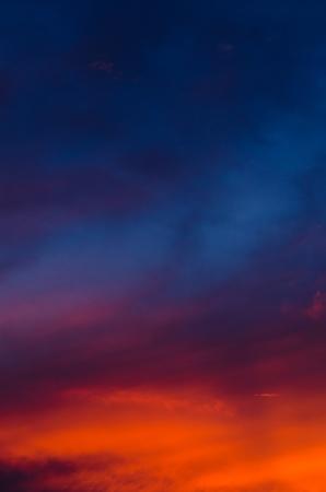 Bunten Himmel vom Sonnenuntergang Lizenzfreie Bilder