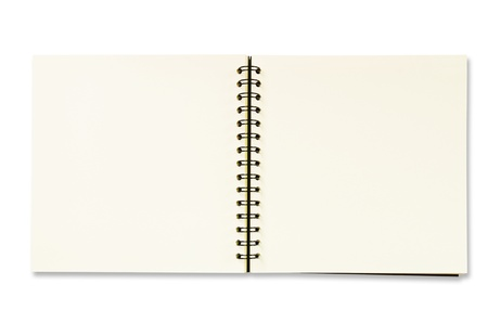 Notebook isolated photo