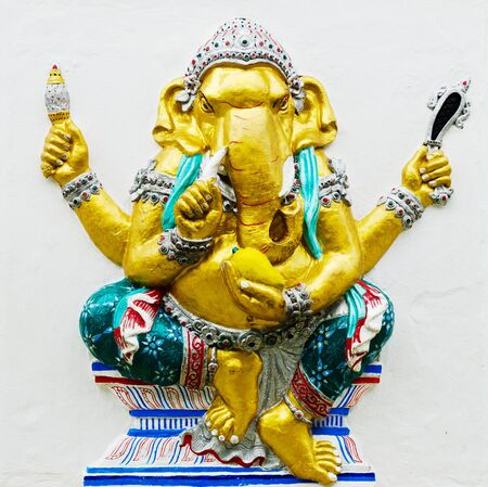 embark: CHACHEONGSAO, THAILAND - MAY 30 : The Largest in the World of Lord GANESHA Statue at Buddha Temple Samanrattanaram made by donation from Thai people in ChaCheongsao,Thailand. Editorial