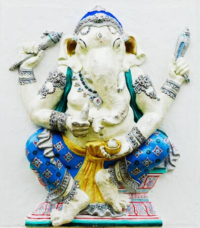 CHACHEONGSAO, THAILAND - MAY 30 : The Largest in the World of Lord GANESHA Statue at Buddha Temple Samanrattanaram made by donation from Thai people in ChaCheongsao,Thailand.