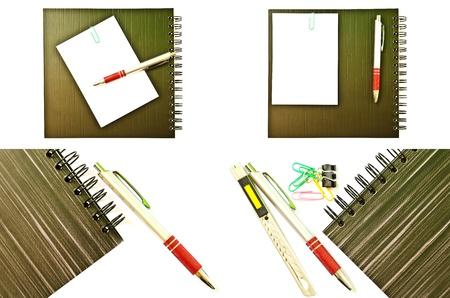 Set of Notebook isolated on the white background  photo