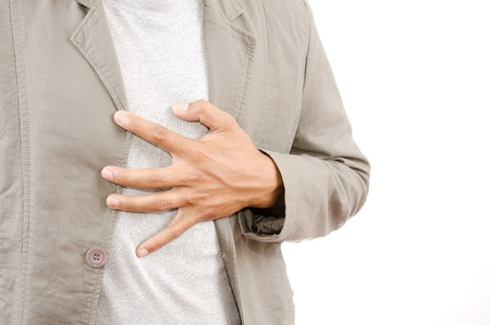 heartburn: Businessman Suffering From Heart Attack