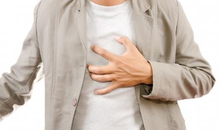 angina: Gesch�ftsmann Suffering From Heart Attack