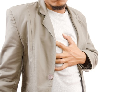 heart pain: Businessman Suffering From Heart Attack