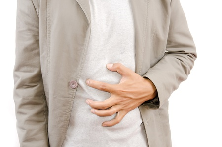 dolor de estomago: Empresario dolores abdominales
