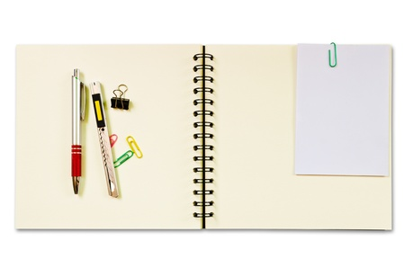 Notebook and Pen isolated Stock Photo - 14269479