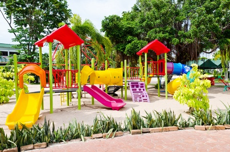 Playground in the park. photo