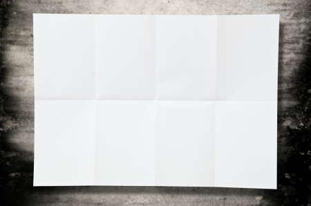Leeg vel wit papier textuur op de vloer