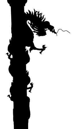 Chinese Style Dragon Statue Vector. Ilustração