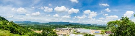 Estates Zone under Construction with Blue Sky field panorama Stock Photo - 15711900