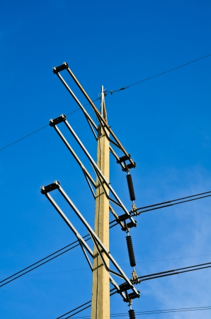 strom: High voltage power pole with Sky  Stock Photo