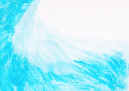Abstract Blue Watercolor Brush Strokes  photo