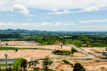 Estates Zone under Construction with Blue Sky field  photo