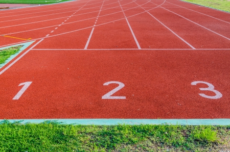 Running track numbers 1 2 3  photo