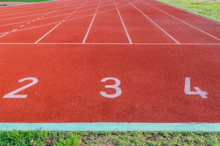 Running track numbers 2 3 4  Stock Photo - 16394567