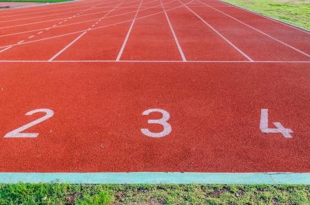 Running track numbers 2 3 4 Stock Photo - 16394567