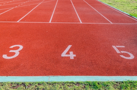 Running track numbers 3 4 5  photo