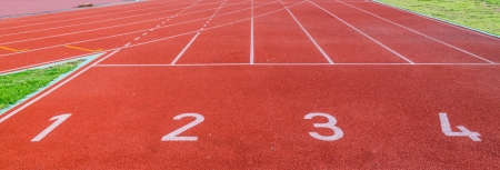 Running track numbers 1 2 3 4  photo