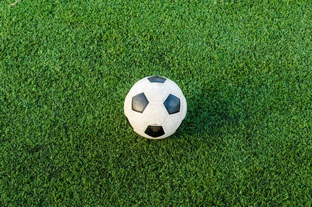 Soccer Football on the green grass of Soccer field Stock Photo - 16394583
