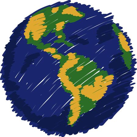 Globe Vector line Illustrator, EPS 10. Vector