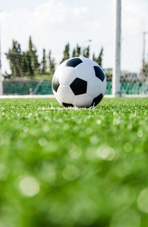 kickball: Soccer Football on Penalty spot for Penalty Kick