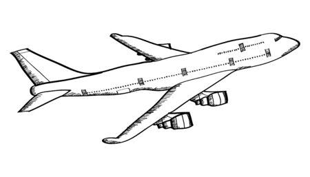 Airplane Vector Line Illustrator Illustration