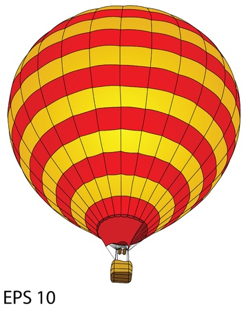 air sport: Hot Air Balloon for Transportation Concept, Vector Illustration  Illustration